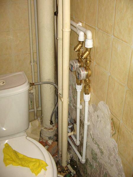 Установка счетчиков воды на трубы полипропиленовые своими руками